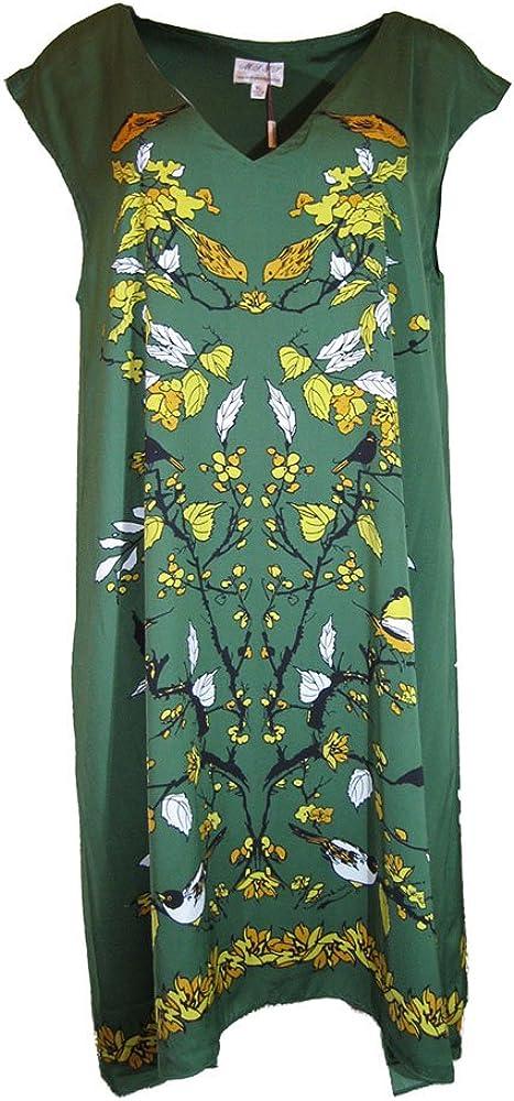 Size-M White M.S.S.P Floral Print Knit Jersey Shift Dress