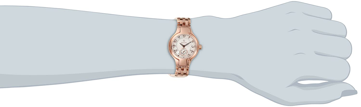 Philip Stein Women s 44RGP-FMOP-SS5RGP Round Collection Rose Gold-Plated Watch