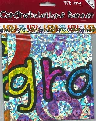 274,32 cm largo cartel de felicitación: Amazon.es: Hogar