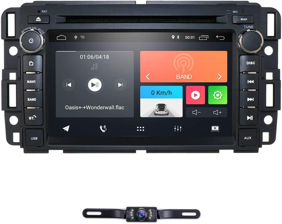 hizpo 7 Inch Android 9.0 Car Radio Supports Bluetooth WiFi Steering Wheel Control USB DVR Mirror-Link for GMC