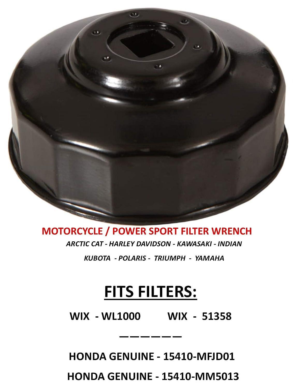 Filtro de aceite para motocicleta, compatible con: filtros > WIX ...