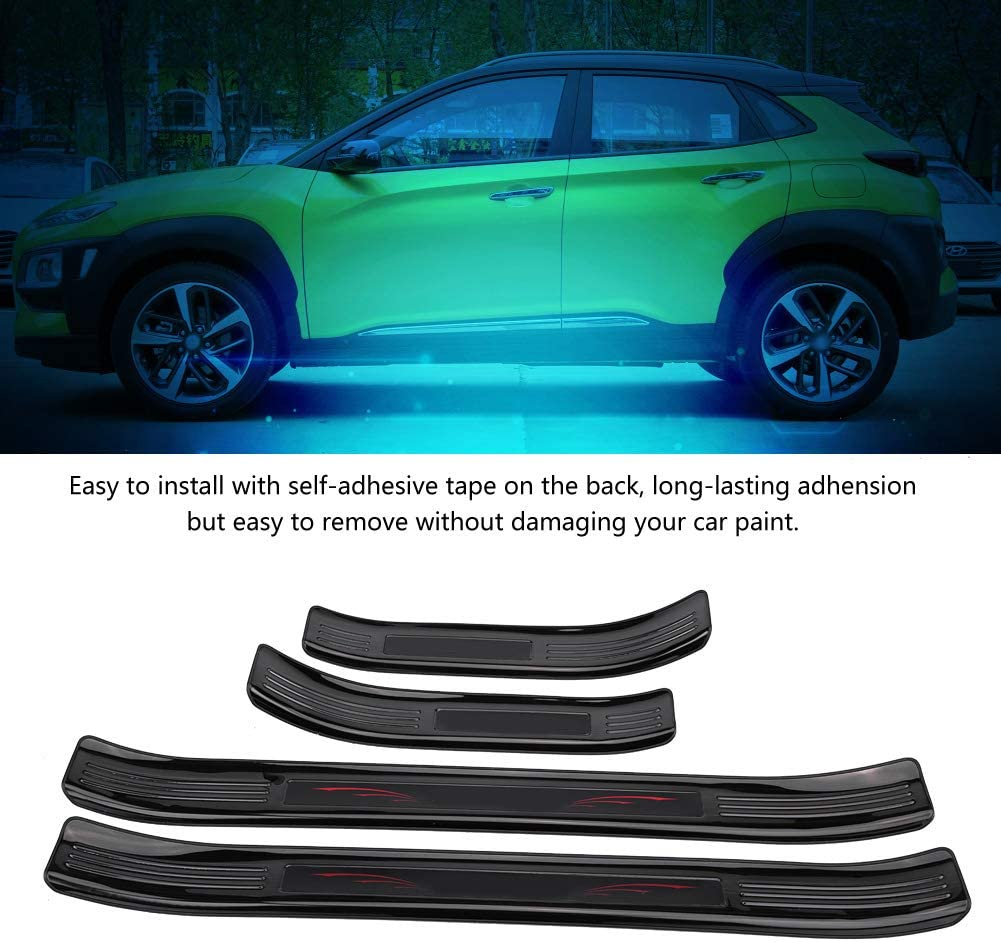 Black Terisass Car Sill Guards 4 Pcs Sill Guards Door Entry Sill Guards Protector ABS Plastic Scuff Cover Sill Scratch Guards Door Sill Entry Guard Protector for Encino Kauai 2017 2018 2019 2020 SUV