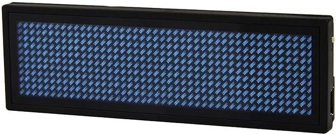 YouJi Badge Affichage Rouge LED programmable d/éfilement nom /étiquette Mobile nom Rechargeable