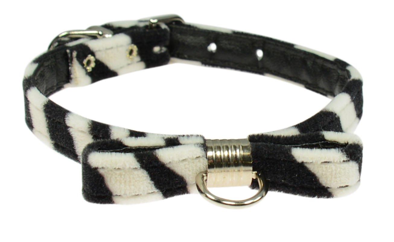 Evans Collars Collar with Bow,14'', Animal Prints, Zebra