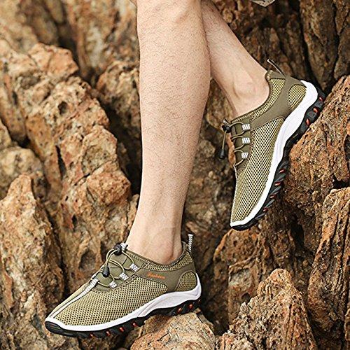 traspiranti uomo Green per trekking da ginnastica e ginnastica Chnhira da scarpe sport scarpe arrampicata morbide da wqnZpIX
