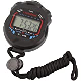 LuckyStone Professional Digital Stopwatch Timer ,Handheld LCD Chronograph Water Resistant Stop Watch with Alarm Feature for Sports Fitness Coaches and Referees