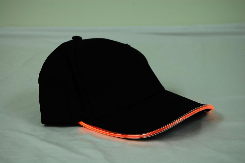 Amazon.com  DirectGlow 3 Mode Adjustable Fit LED Light Up Hat (Black Fabric  Orange LED)  Toys   Games 65c8454de1e