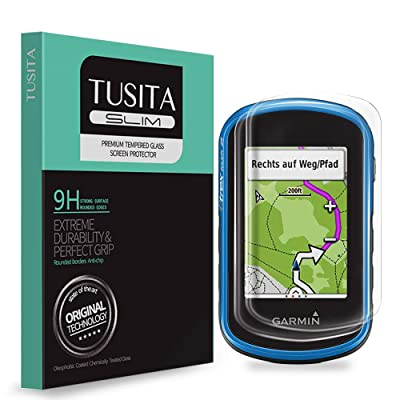 [2-Pack] TUSITA Tempered Glass Screen Protector Bundle for Garmin eTrex Touch 25 35 35t - HD Clarity Protective Film - Handheld GPS Navigator Accessories: MP3 Players & Accessories