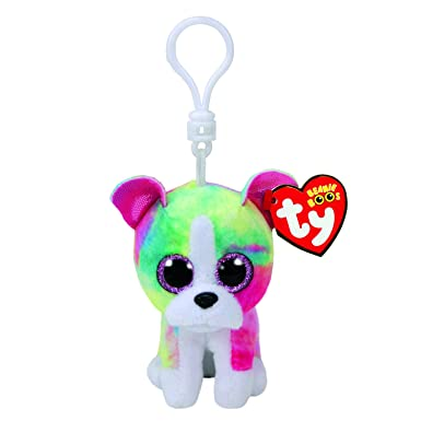 d87be21c25a Image Unavailable. Image not available for. Colour  Claire s Girl s Ty  Beanie Boo Isla the Rainbow Bulldog ...