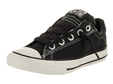 Converse Chuck Taylor All Star Canvas Low Top Sneaker, Charcoal, 2 M US Little Kid 2019