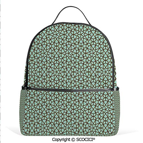 Lightweight Chic Bookbag Arabic Design Geometry Ornament Classic Interior Art Vacation Tourism Gateway,Satchel Travel Bag Daypack (Pottery Days 12 Ornaments Christmas Barn Of)