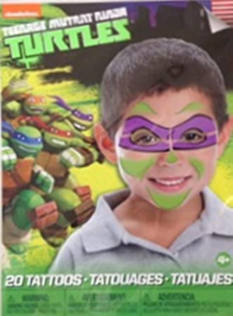Amazon.com: Teenage Mutant Ninja Turtle Temporary Face ...