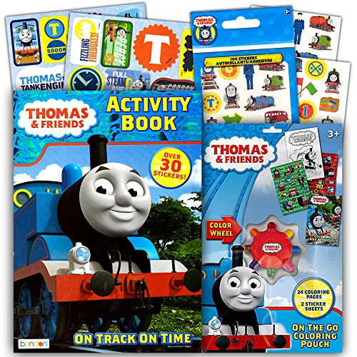 Thomas The Train Coloring And Activity Book Set With Over 160 Stickers 2 Books