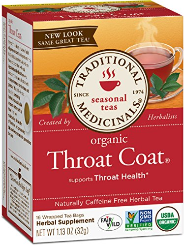 (Traditional Medicinals Organic Throat Coat Seasonal Tea, 16 Tea Bags (Pack of)