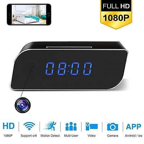 Wifi Cámara Oculta Espía Reloj Sistema De 12 Horas, Cámara Inalámbrica Full HD 1080P Con Detección ...