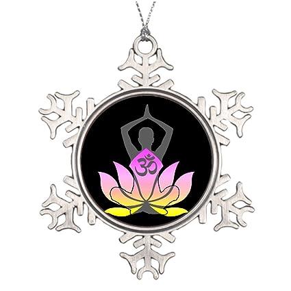Amazon withyouc om namaste spiritual lotus flower yoga pose withyouc om namaste spiritual lotus flower yoga pose xmas trees decorated pictures of snowflake ornaments mightylinksfo