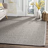 Safavieh Natural Fiber Collection NF154B Light Grey and Grey Area Rug, 4' x 6'