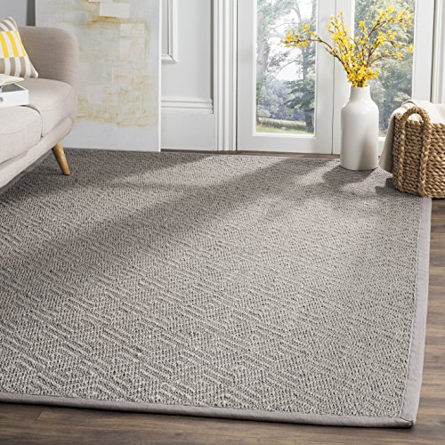 Safavieh Natural Fiber Collection NF154B Light Grey and Grey Area Rug, 4' x ()