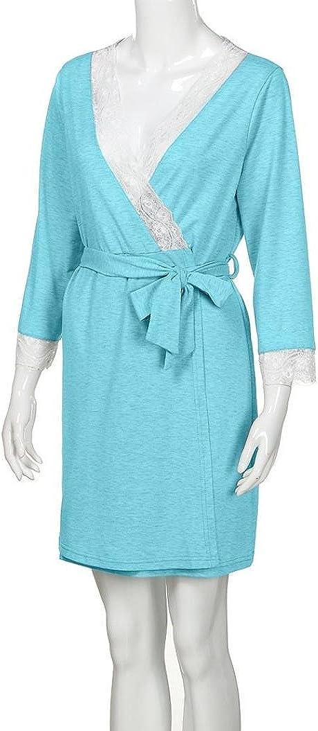 Gusspower Vestido de Lactancia Maternidad de Noche Camis/ón Mujeres Embarazadas Ropa de Dormir Premam/á Pijama Verano Encaje