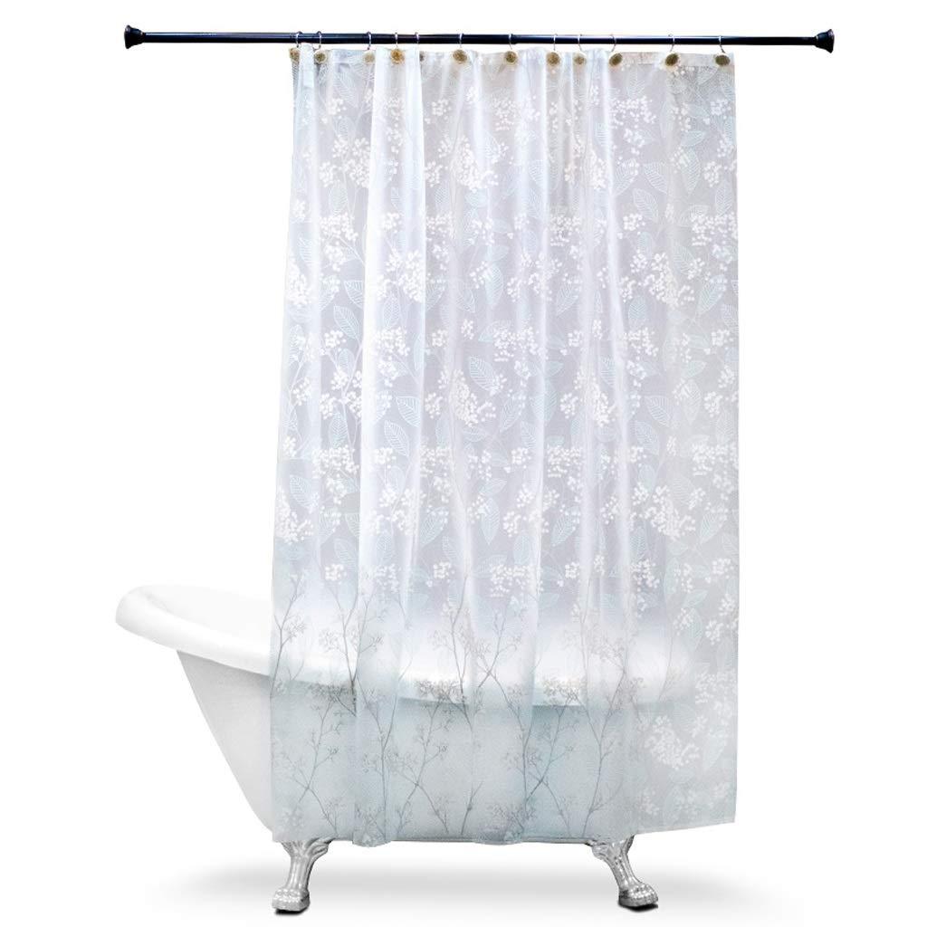 Curtain EVA Mildew Waterproof Thickening Shower Curtain,Waterproof Bathroom Partition Shower Curtain Shower Equipment (Size : 1.82m)