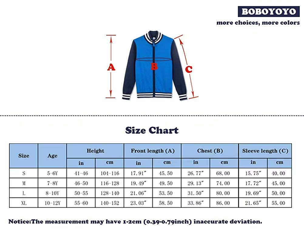BOBOYOYO Boys Cardigan Sweater Striped Baseball Sweatershirt Jacket Full Zip Cotton Knitwear Casual 5-12Y