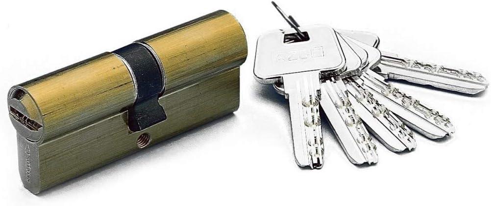 30x 30 mm Yale 3012186 Cilindro Azbe Seguridad Hs-7 30x30//r15,0 Latonado