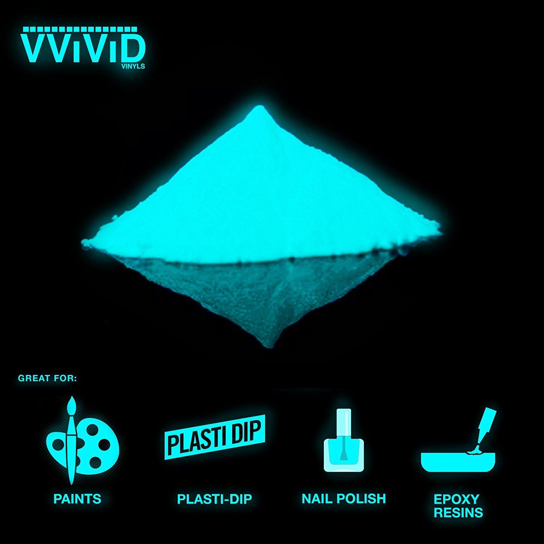 VViViD Aqua Glow In The Dark Pigment Powder 30g/1oz Packet (3 Pack)