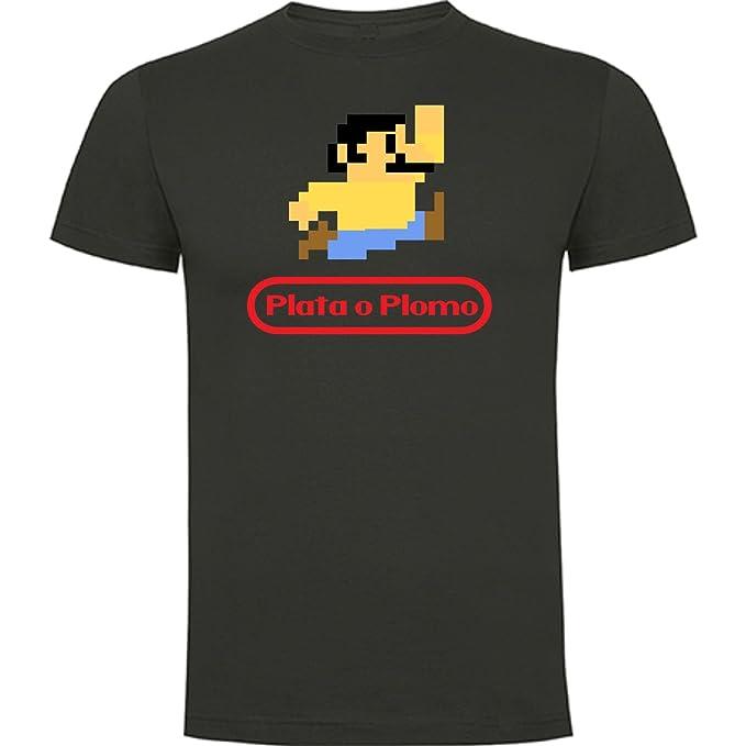 The Fan Tee Camiseta de Hombre Narco Plata o Plomo Pablo Escobar TV Drama Criminal kGnIZZl