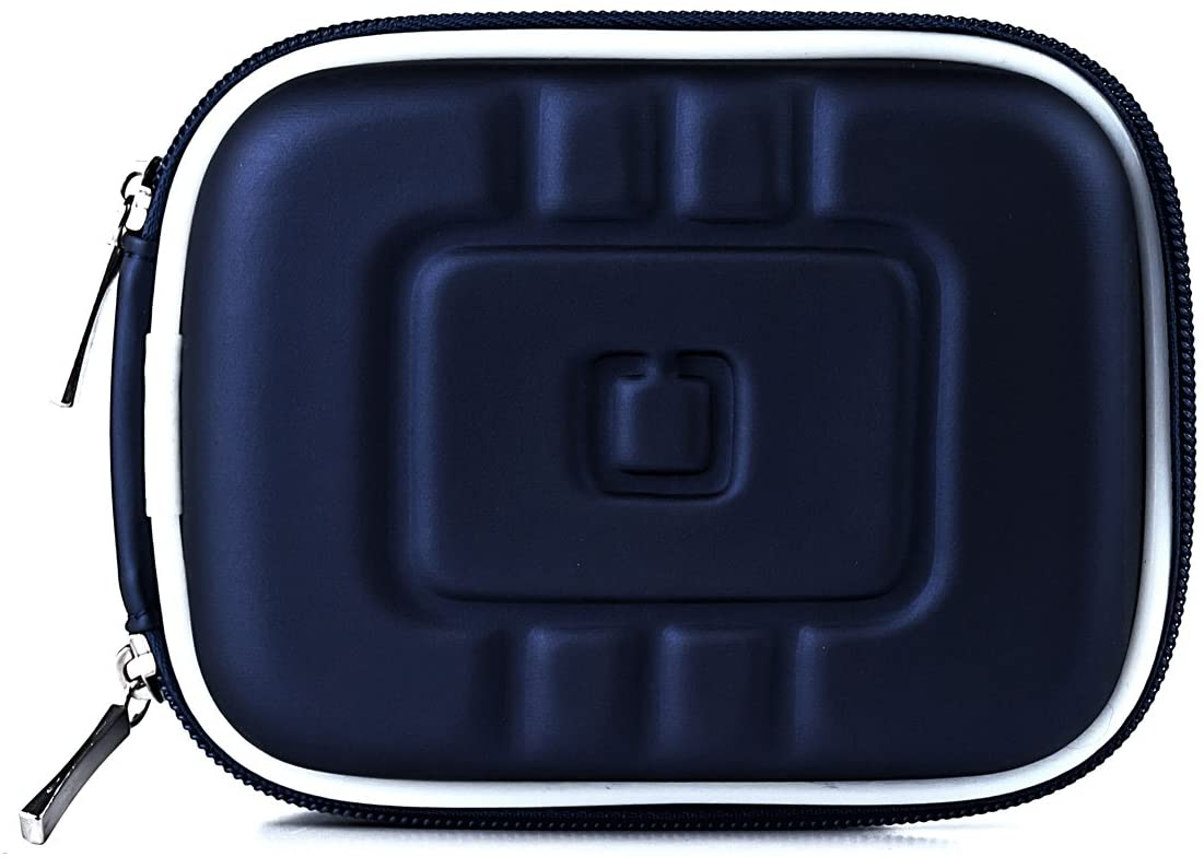 Navy Blue Eva Durable Protective Cover Cube with Mesh Pocket for Canon Power Shot Digital Camera