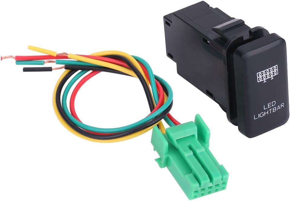 Interrupteur /à bascule de Voiture Keenso 12V Commutateur /à LED Bleu Contacteur de Commande ON//OFF 38.75 x 20.8mm avec C/âble 200MM pour voiture LED LIGHT BAR