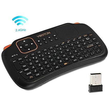 Prom-note Teclado inalámbrico Mini 2.4Ghz 83 llaves Touchpad teclado inalámbrico con ratón para