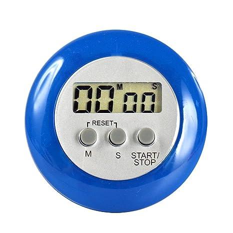Szaerfa Reloj Reloj Deportivo Cool Countdown Digital 99 Minutos LCD Cocina (Azul)