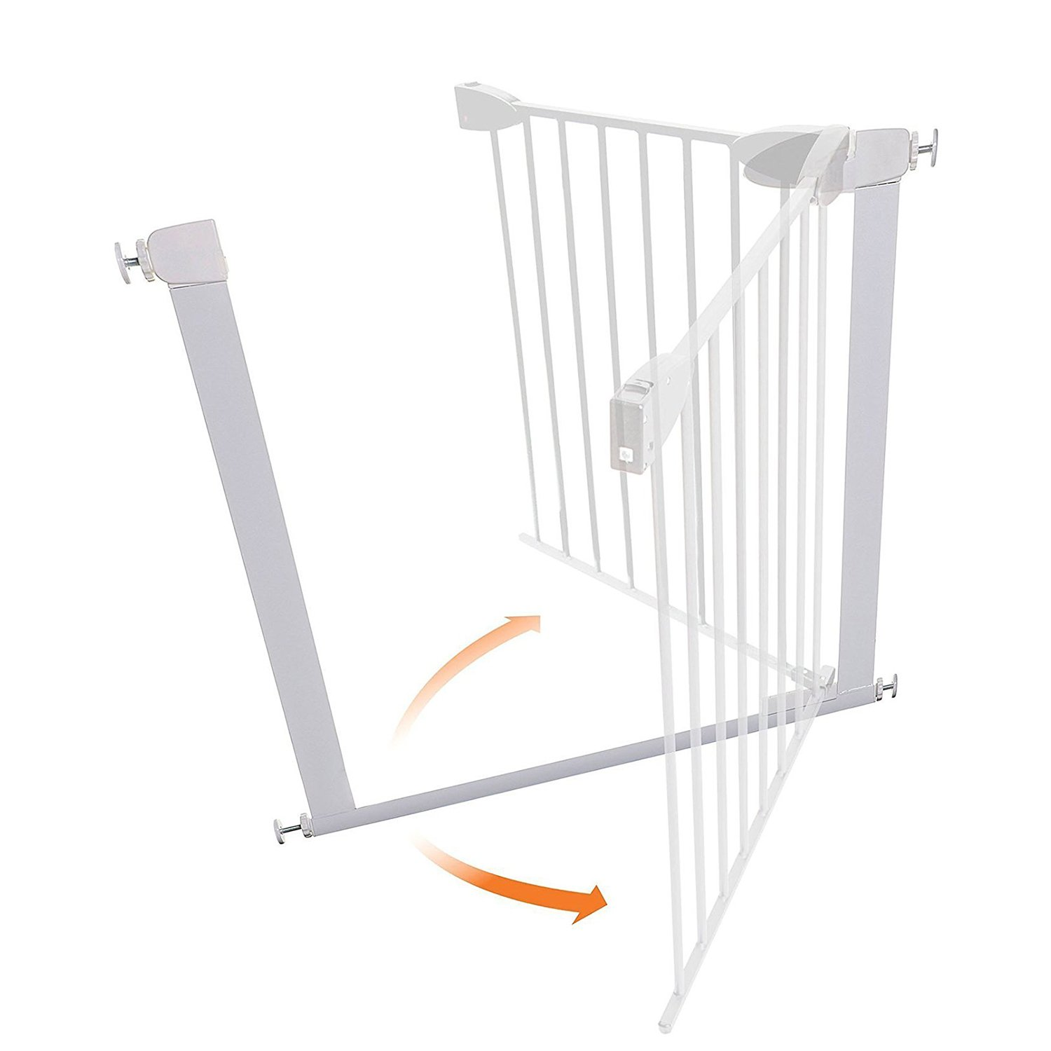 Fairy Baby Easy Step Walk Thru Pet and Baby Gate Expandable 29.5'' High,Fit Spaces 40.55''-43.31'' by Fairy Baby (Image #6)