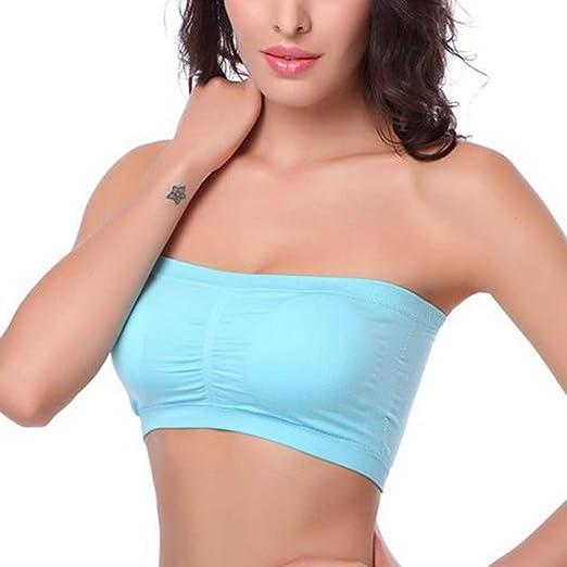 New Ladies Womens Sports Bra Vest Bandeau BoobTube Crop TOP Bras Size S M L XL