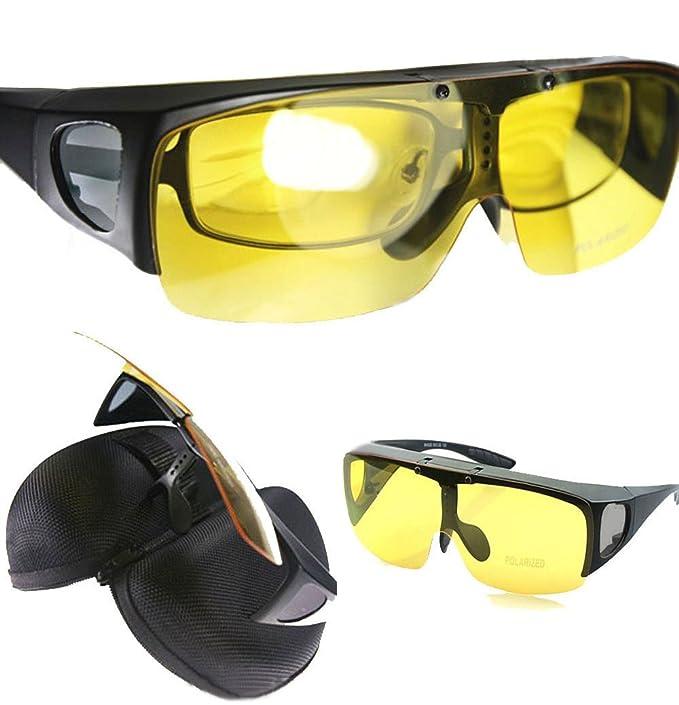 Agstum colocar sobre gafas polarizadas gafas de conducción nocturna Flip Up gafas de sol