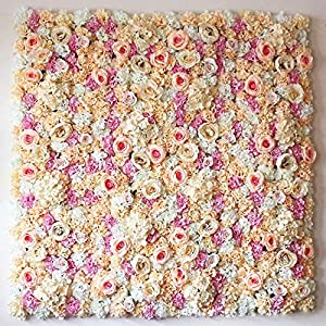 Discountdepot53 Artificial Silk Rose Flower Decoration| Backdrop Wedding Decoration, 40cmx60cm, Light Champagne 95