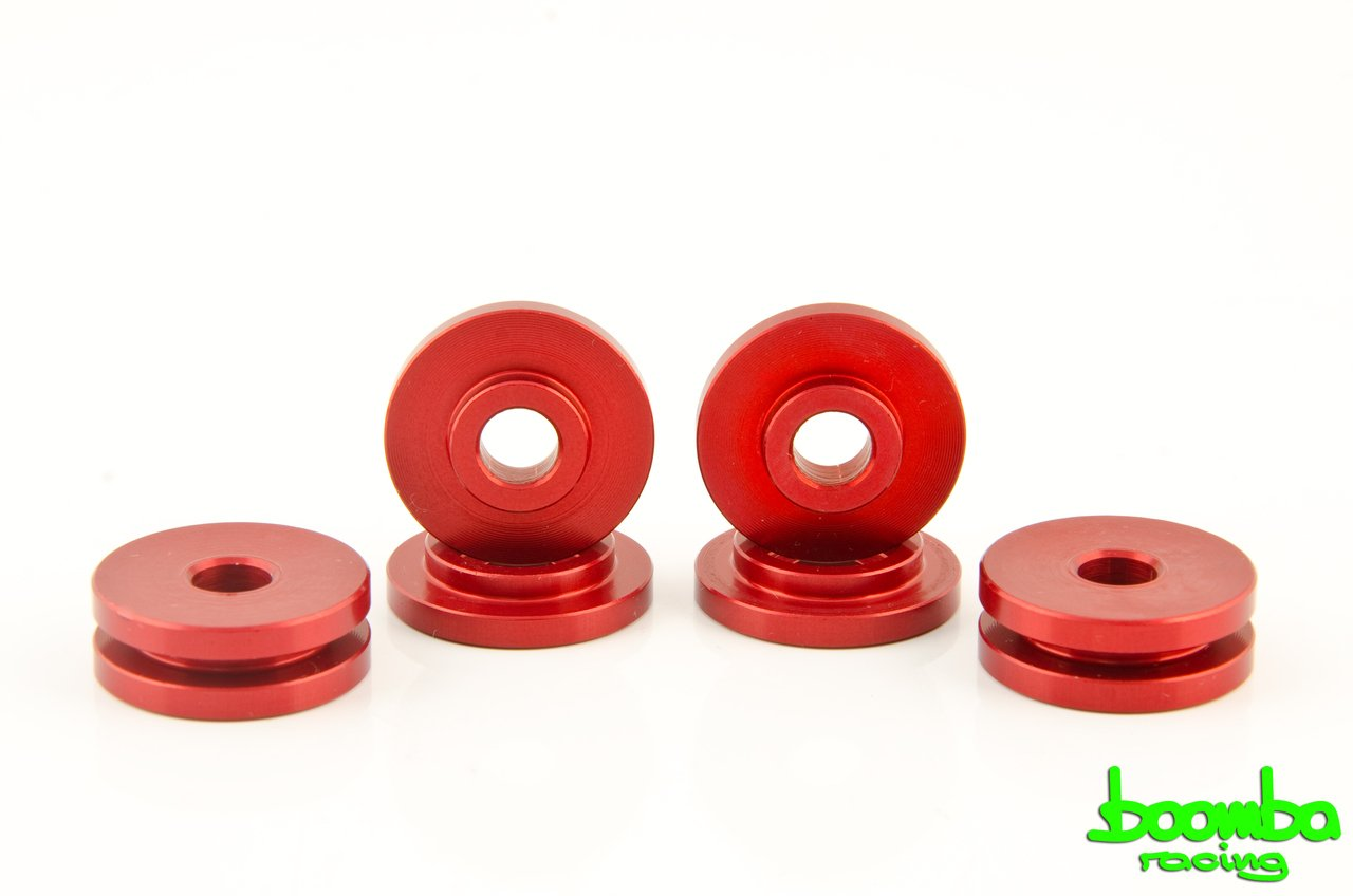 Boomba Racing TRANSMISSION BRACKET BUSHINGS RED for 2013+ Ford Focus ST