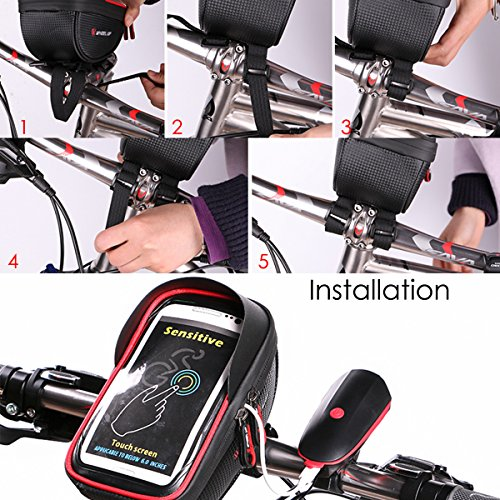 Bike Phone Mount Bag Wallfire Bicycle Frame Handlebar Bags With Waterproof Touch Screen Case For IPhone X 8 7 6s 6 Plus 5s Samsung Galaxy S7 S6