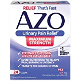 AZO Urinary Pain Relief Maximum Strength | Fast relief of UTI Pain, Burning & Urgency | Targets Source of Pain | #1 Most…