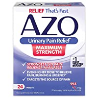 AZO Urinary Pain Relief Maximum Strength | Fast relief of UTI Pain, Burning & Urgency...