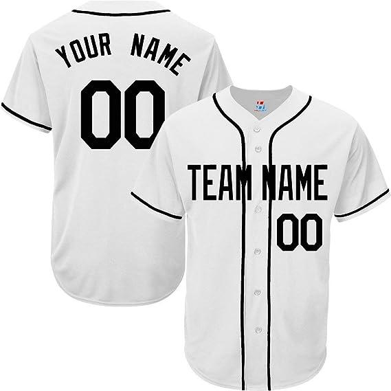 NO Saints Baseball Line Custom Name Baseball Jersey White Shirt