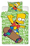 simpson merchandise - The Simpsons Bart Skating Single Duvet Cover Set 100% Cotton By BestTrend