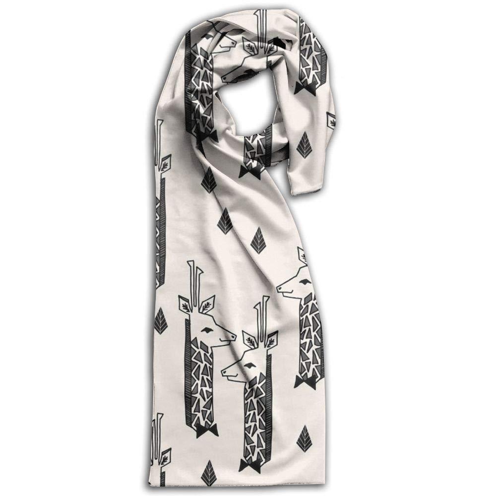 Womens Mens Fall Winter Fashion Scarf Long Shawl Cotton Scarves Print Scarves Giraffes Champagne Black Charcoal Winter Warm Soft Chunky Large Blanket Wrap Shawl Scarf