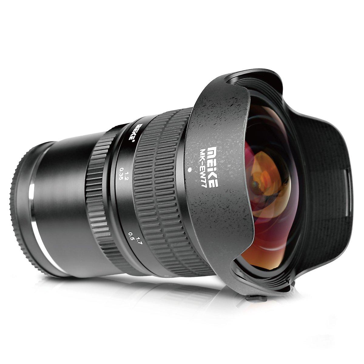 MEKE Meike 8mm f/3.5 Ultra Wide Rectangle Fisheye Lens for Sony E-mount Sony A6500, A6000,A6100,A6300,Nex3,Nex3n,Nex5,Nex5t,Nex5r,Nex6,Nex7,A7II,A7SII,A7RII,A6500,A9 Cameras