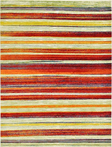 Abstract Painting Modern Area Rug Multi 9′ x 12′ FT Luce del sole Collection Geometric Contemporary Thick Soft Living Dinning Bed room Review