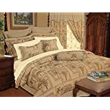 13 Piece Queen Tapestry Palm Tree Bed in a Bag