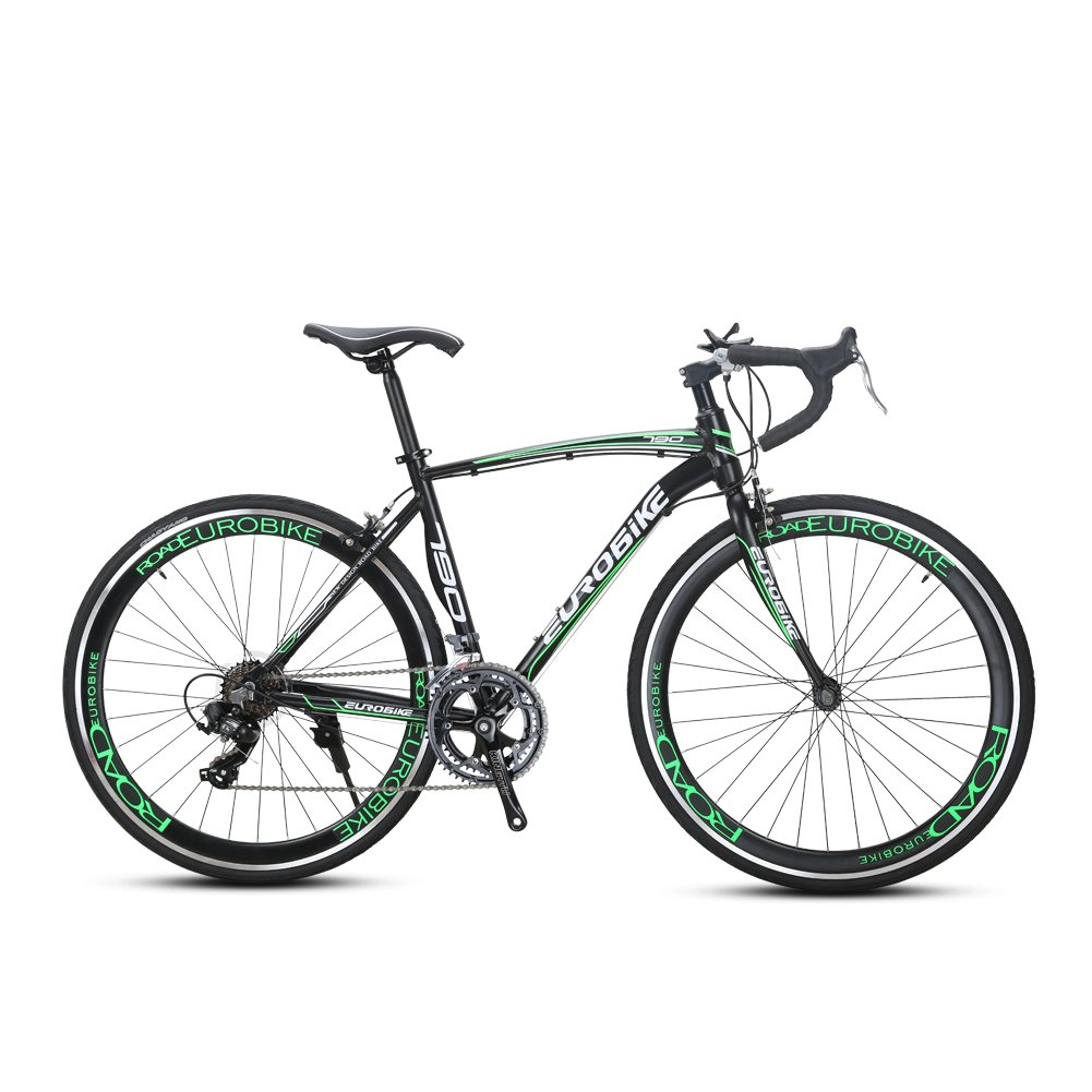 CYRUSHER XC790 ロードバイク自転車 700*28C シマノ 14段変速 AS4.1 Vブレーキ 軽量アルミフレーム B07CQZL9BGグリーン