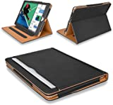 """MOFRED® Black & Tan Apple iPad 9.7""""- 2017 & New iPad Released March 2018 Leather Case-MOFRED®- Executive Multi Function Leather Standby Case for Apple iPad 9.7"""" (For 2017 & 2018 Versions) with Built-in magnet for Sleep & Awake Feature -- Independently Voted by """"The Daily Telegraph"""" as #1 iPad Case! (For iPad Models A1822,A1823,A1893 and A1954)"""