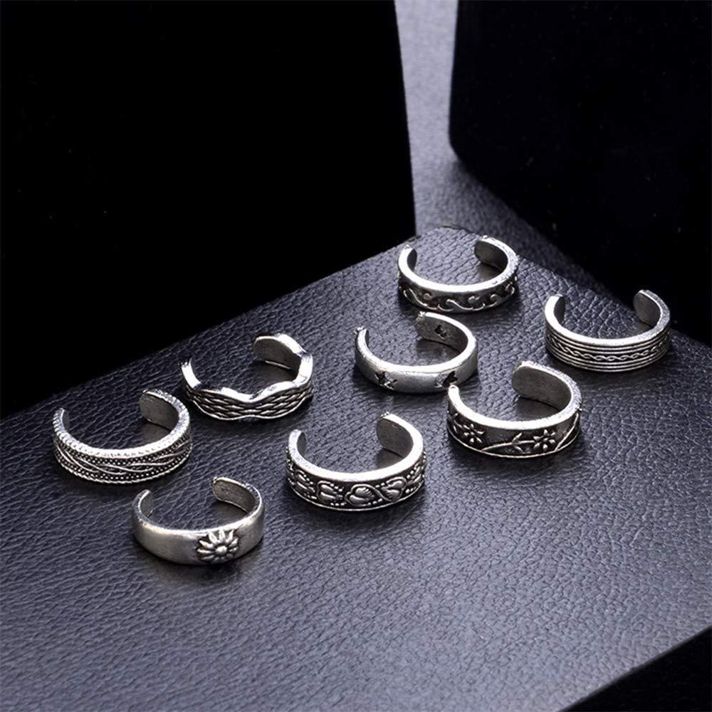12 bijoux r/églables bijoux r/étro argent ouvert bout ouvert doigt doigt durable et pratique