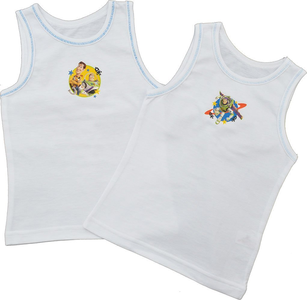 Boys 2 Pack Character Vests Disney Toy Story